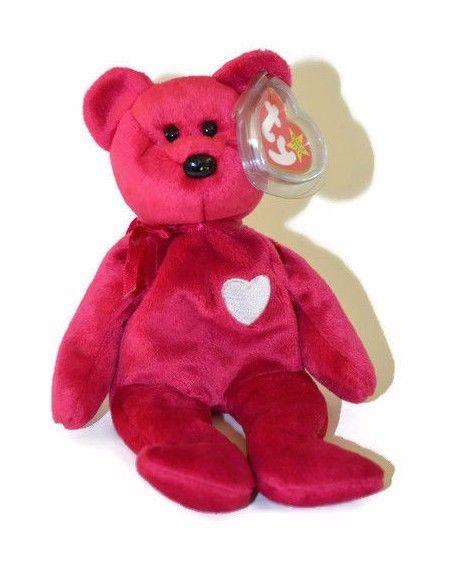 0f18efc2c0ddda $3.99 Ty Beanie Babies Valentina Plush DOB February 14 1998 Teddy Bear  Stuffed Toy #Ty