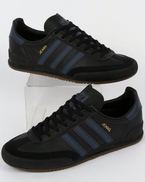 Adidas Jeans Leather Trainers Black