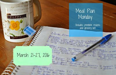 Darcie's Dishes: Meal Plan Monday: 3/21-3/27/16 ~ A 7 day meal plan that include all snacks, drinks and meals. All recipes are Trim Healthy Mama compliant. The menu is printable and has a companion printable shopping list.