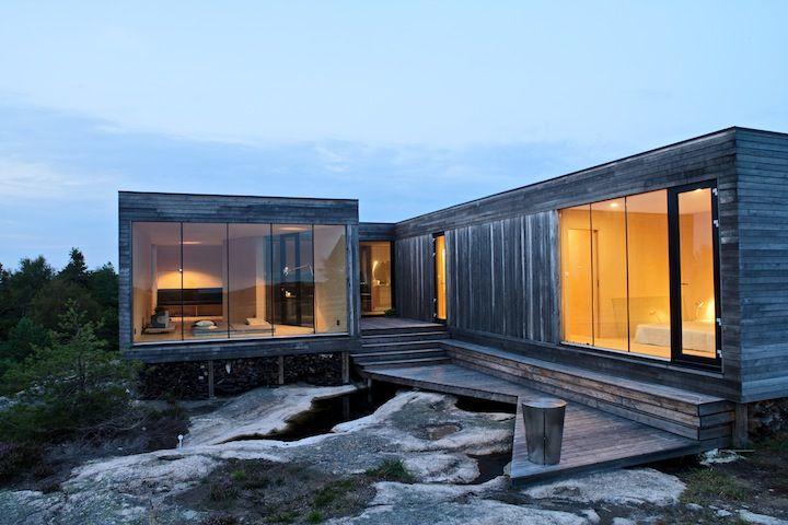 Sommerhouse Hvaler Architektur, Haus ideen und Innenarchitektur - geometrische formen farben modernes haus