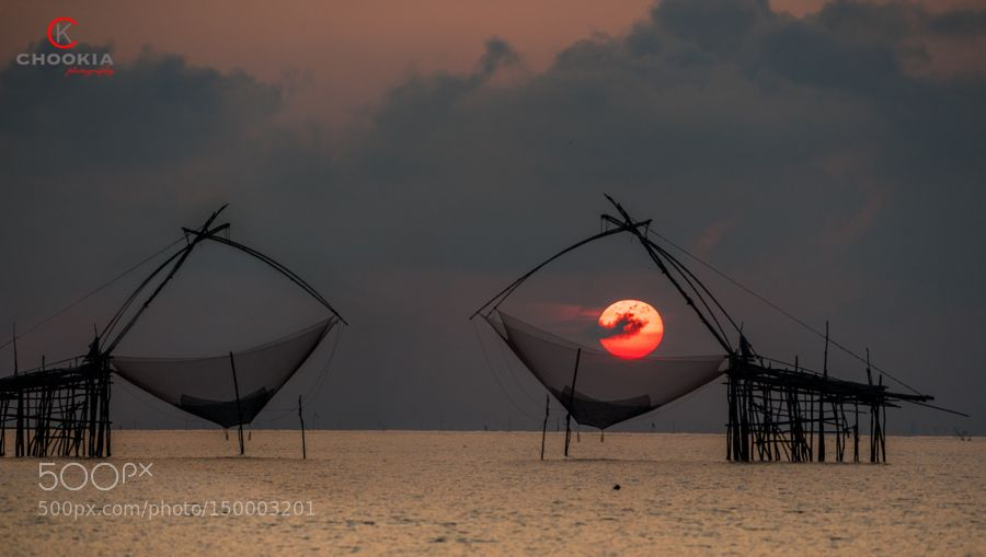 Popular on 500px : Thailand Traditional Bamboo Shrimp Fishing Village by chookia