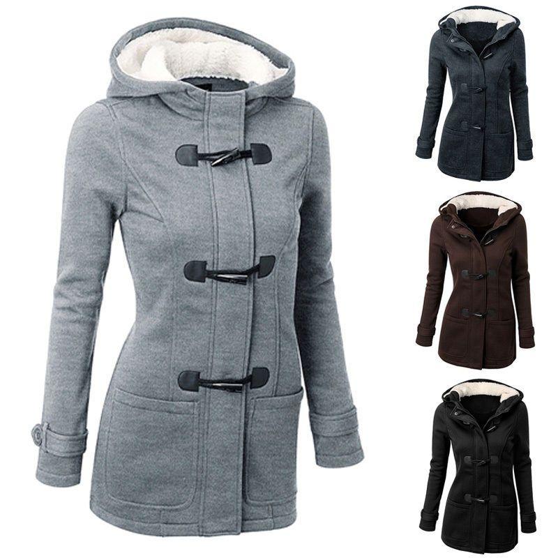 Women's Warm Coat Jacket Outwear Trench Winter Hooded Long Parka ...