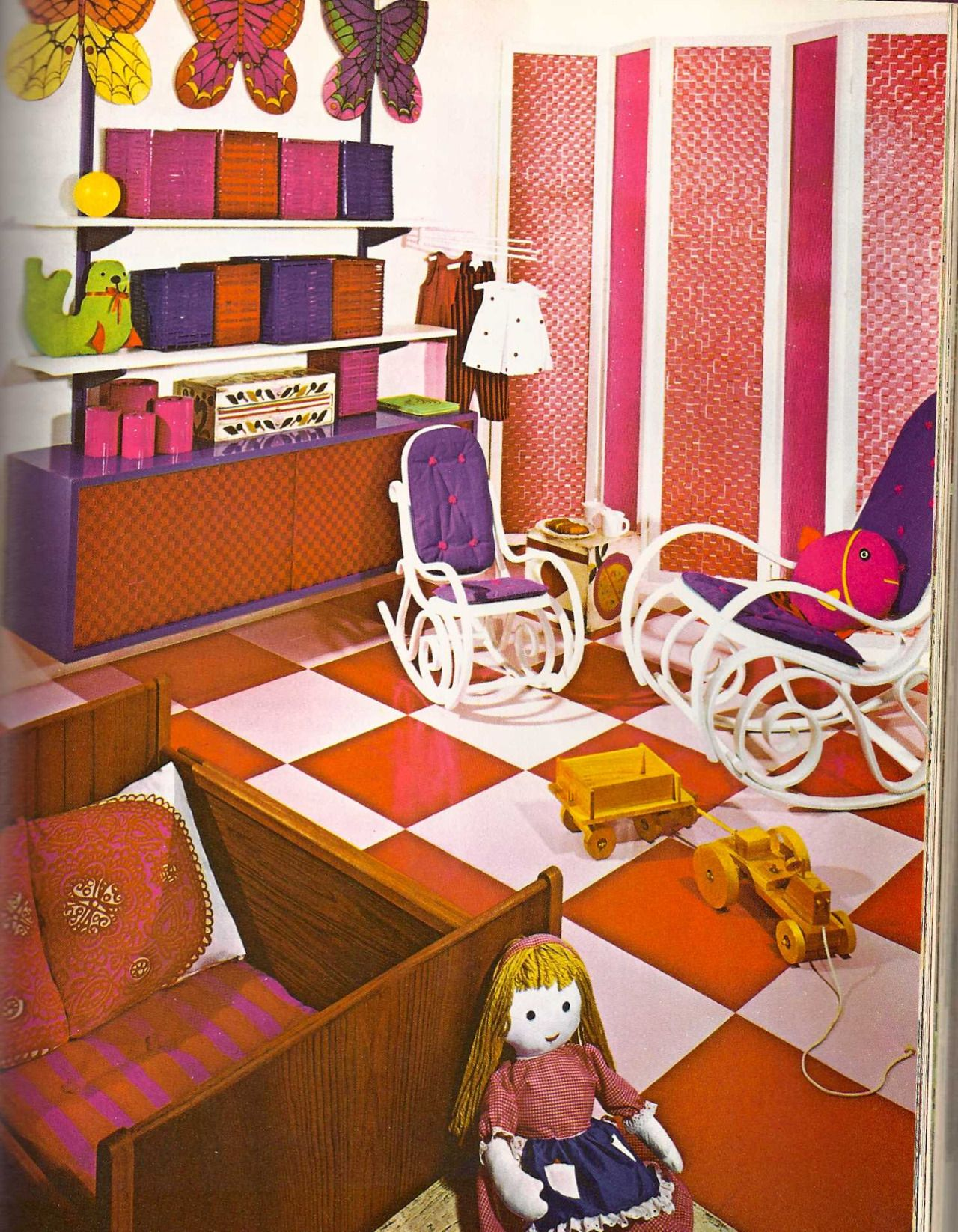 Vintage Interior Design Family Room  Late 1960S