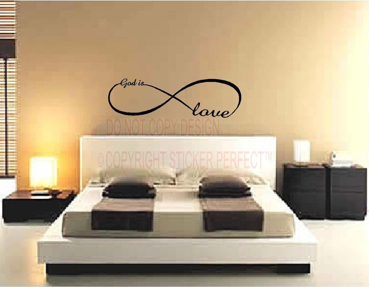 Love Quotes Vinyl Wall Art God Is Love Infinity LOVE Symbol .