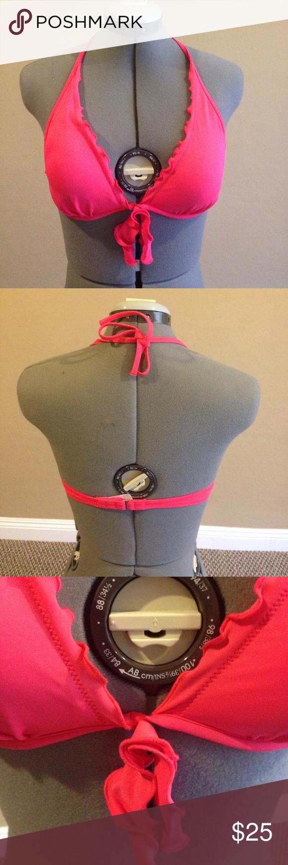 Bikini top This salmon-colored bikini top will match a ...