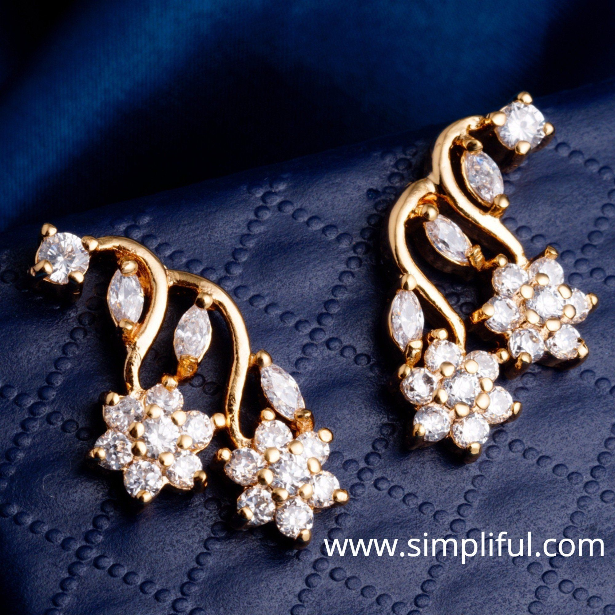 beers ideas diamond stud de l drop earrings designs larger view about earring designer