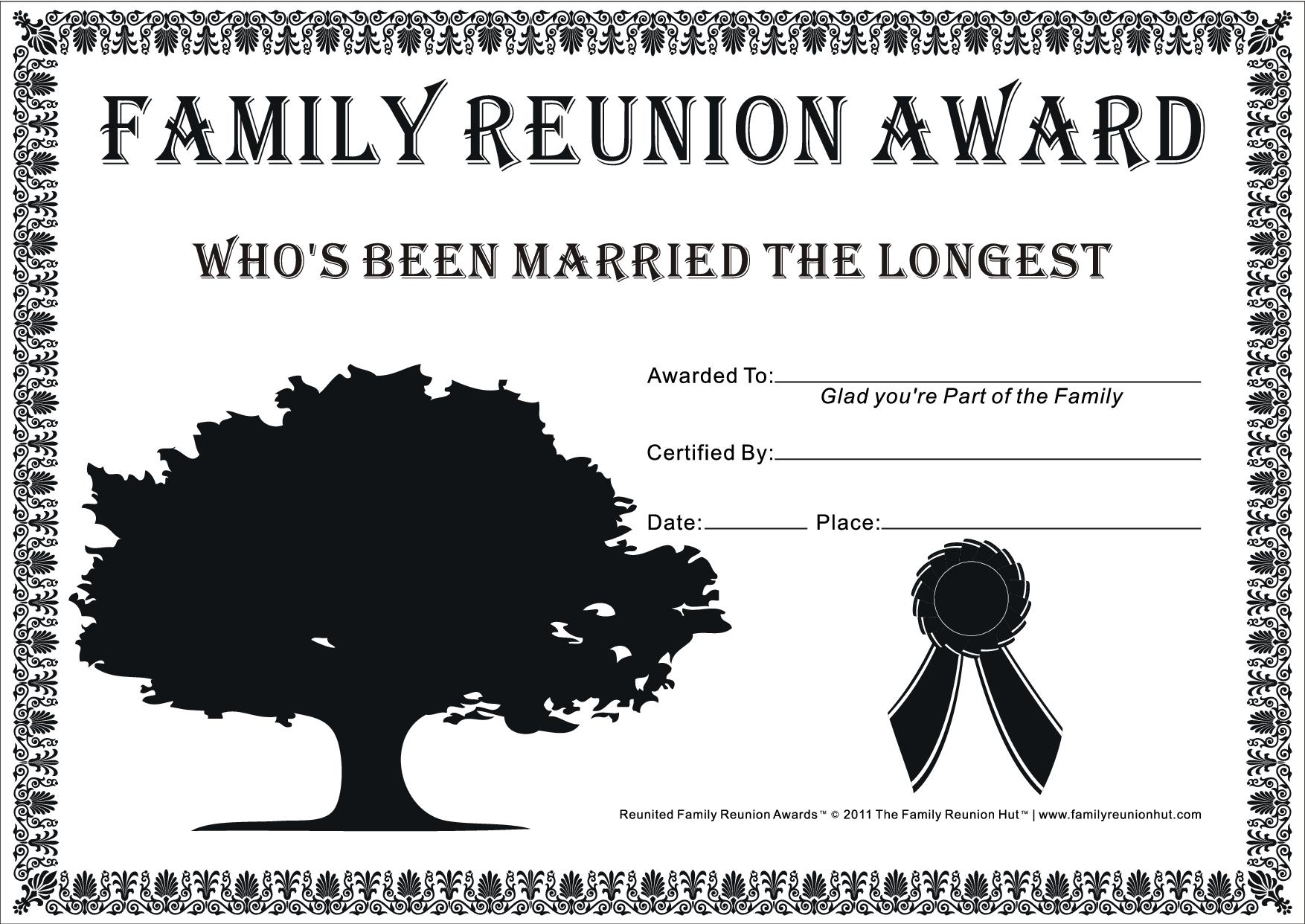 Family Reunion Certificates Hope Tree 23 Is A Free Cakepins