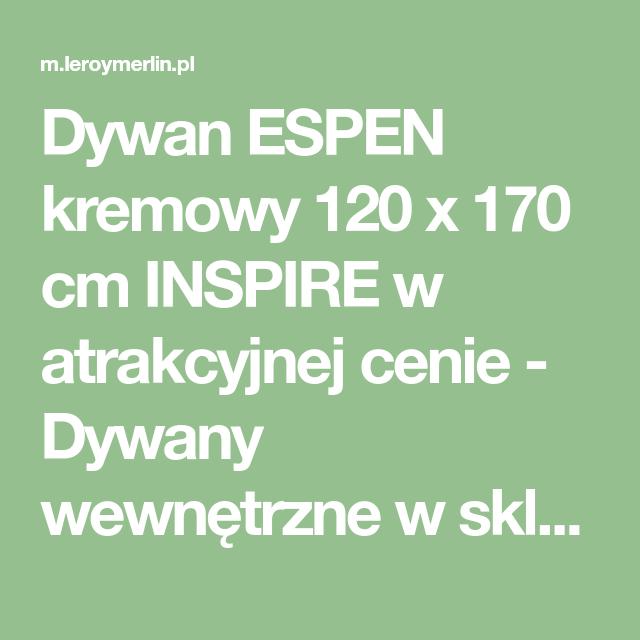 Dywan Espen Kremowy 120 X 170 Cm Inspire W Atrakcyjnej Cenie