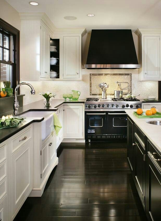 I like the contrasting bench & cabinet being different for the island! And that oven/stove is amazing! *like