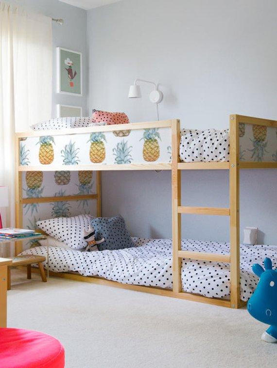 . IKEA KURA BED removable stickers pineapple   Ikea nursery decals