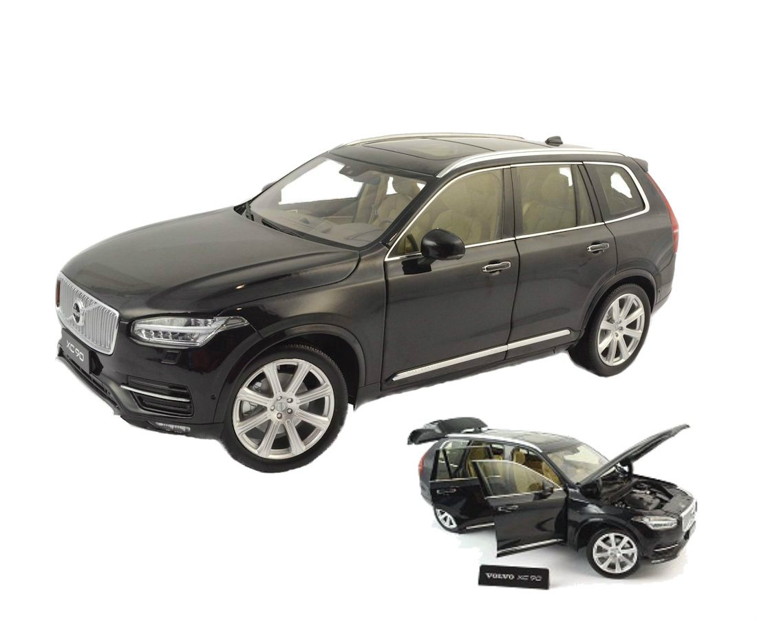 diecast auto world motor city classics 1 18 scale 2015 volvo xc90 xc 90 onyx black metallic. Black Bedroom Furniture Sets. Home Design Ideas