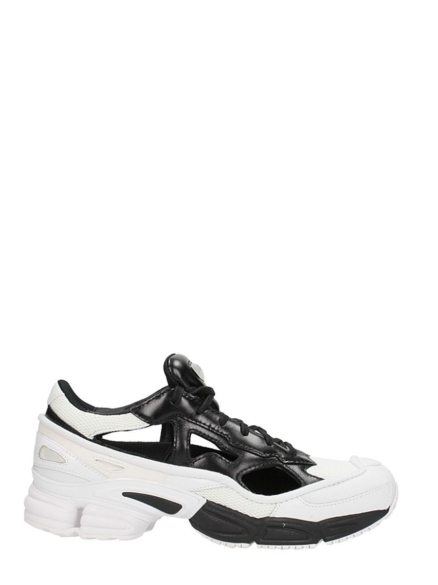 d4ff3a50d98a5 ADIDAS BY RAF SIMONS RS REPLICAN OZWEEGO LIMITED BLACK-WHITE LEATHER  SNEAKERS.  adidasbyrafsimons  shoes