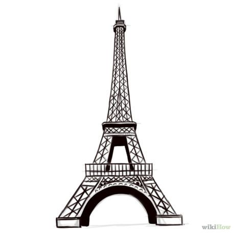 Draw the eiffel tower outlines tower and france how to draw the eiffel tower thecheapjerseys Images