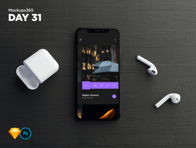 Download Mockups365 Day 31 Top Down Iphone X Apple Airpod Mockup For Sketch Photoshop Iphone Mockup Iphone Cases Iphone