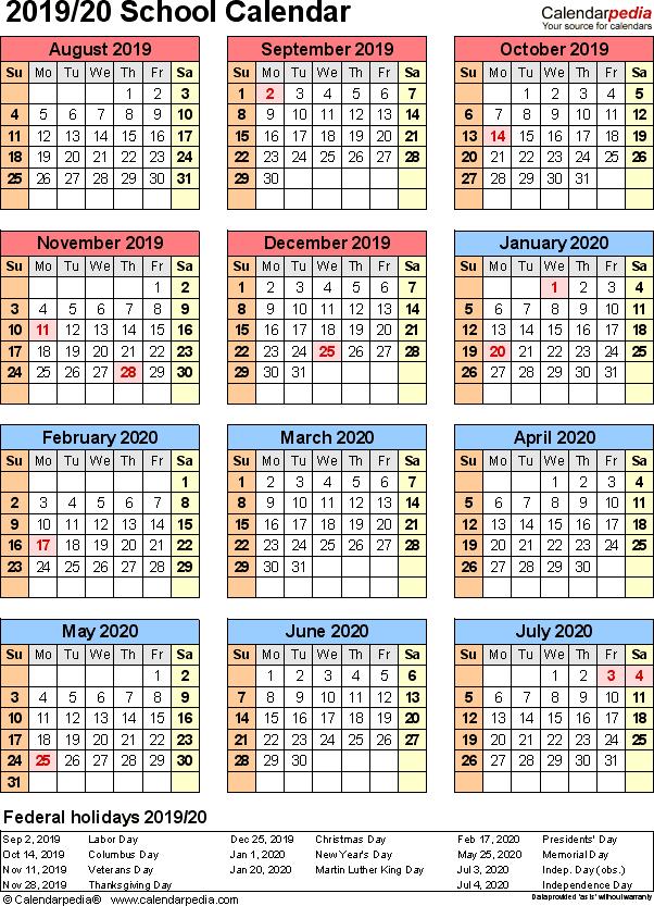 2019 2020 School Year Planning Calendar Google Search School Calendar Printable Calendar Design Academic Calendar