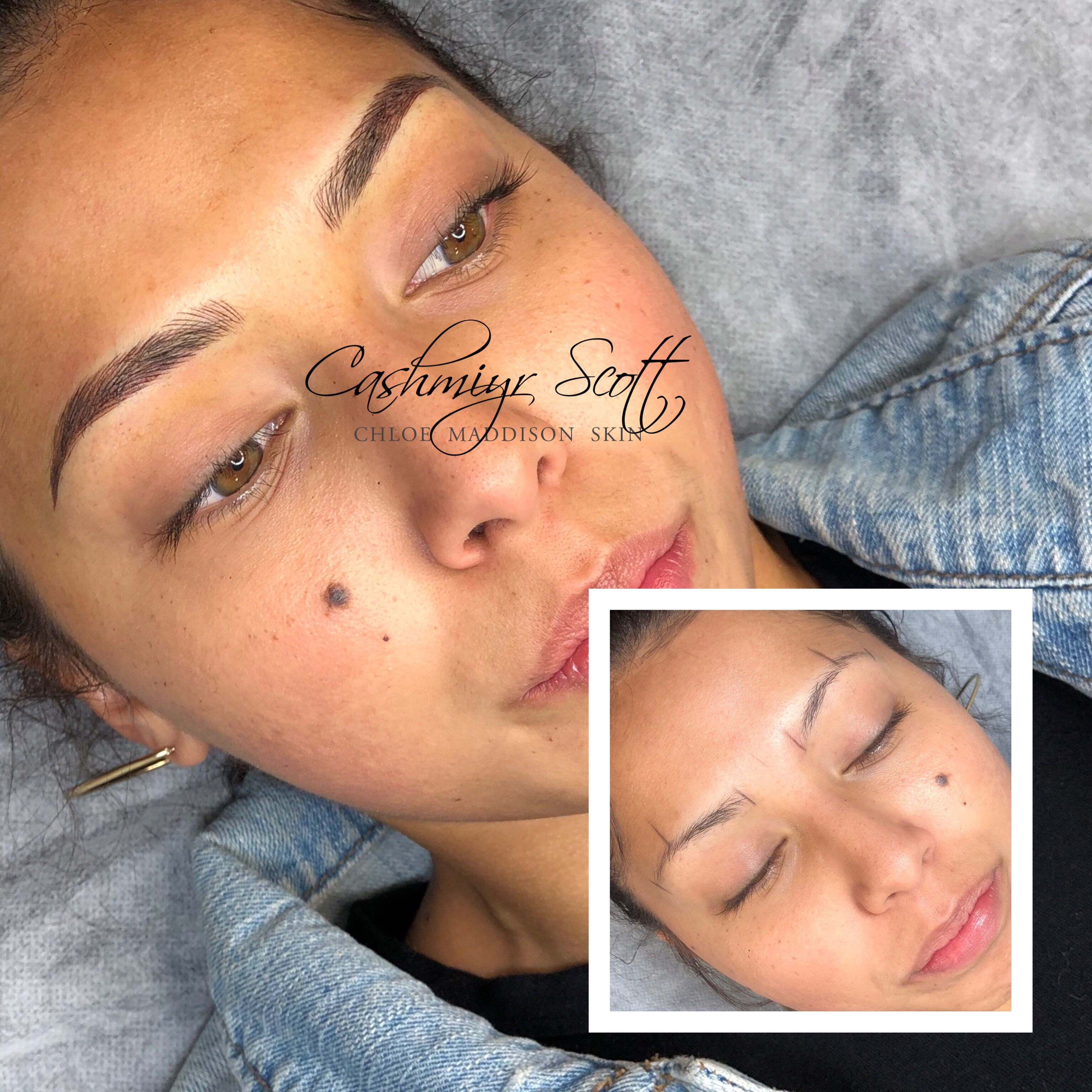A beautiful brow for this lovely lady. She absolutely