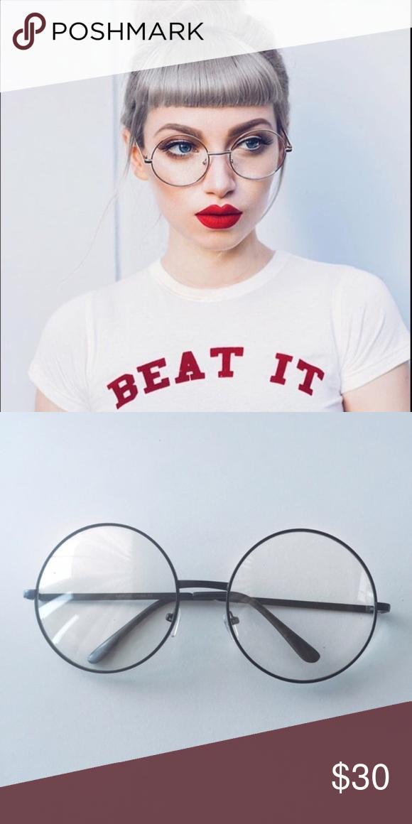 1f09bba0ecc2e Round oversized glasses Clear frame