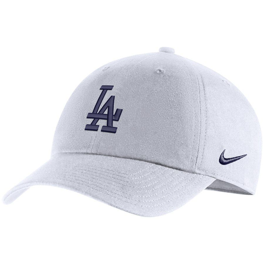 f4299e1009a Men s Los Angeles Dodgers Nike White MLB Heritage 86 Adjustable Hat ...