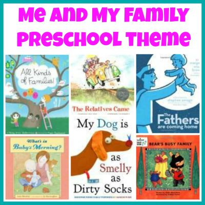 me and my family theme book list to accompany preschool theme plus