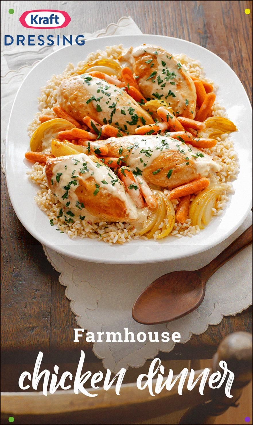 Farmhouse chicken dinner surprise everyone around your