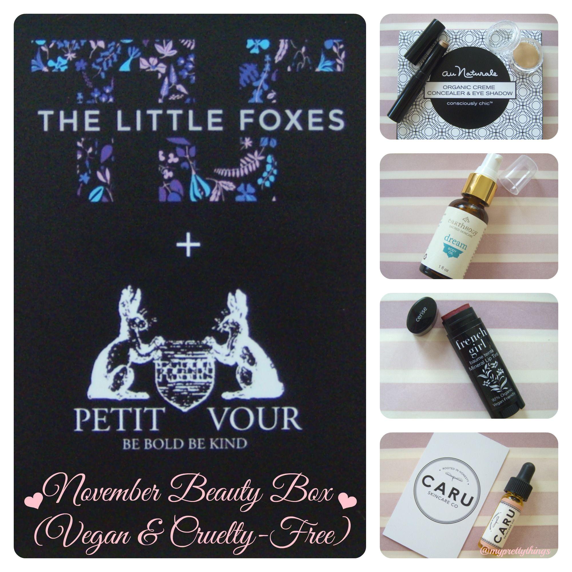 Enjoying All The Vegan Beauty Cruelty Free Beauty Treats From The Petitvour Thelilfoxes November Beauty Box Cruelty Free Beauty Beauty Box Beauty Treats