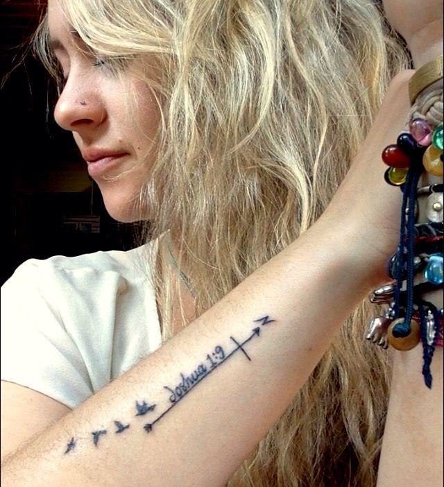 Joshua 1 9 Cross Compass Free Birds Future Tattoos Wrist Tattoos Tattoos