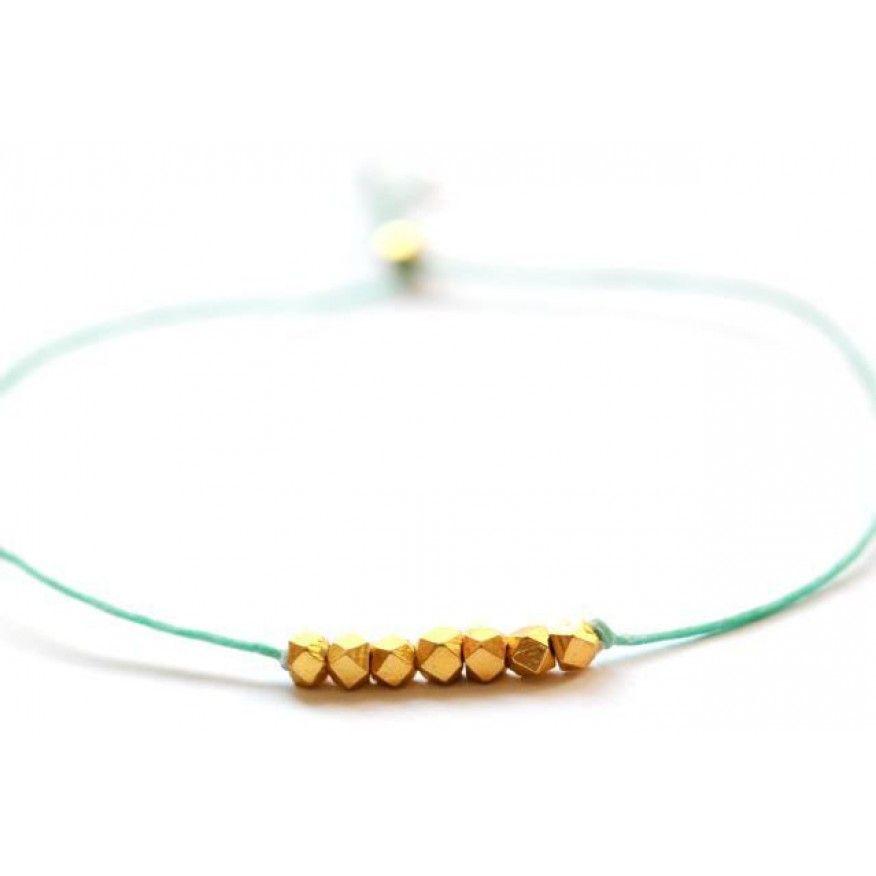 """Armband """"Seven Wish""""    - Süßes Armband mit vergoldeten Silvernuggets von Vivien Frank.  http://www.blissany.com/experten/blissany-loves/armband-seven-wish.html"""