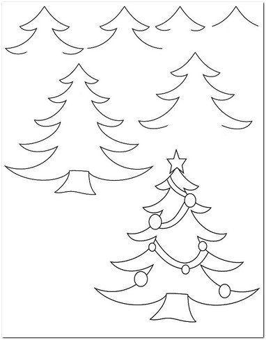 çam Ağacı Resmi çizimi Yunuslaryunuslar Christmas Tree Coloring