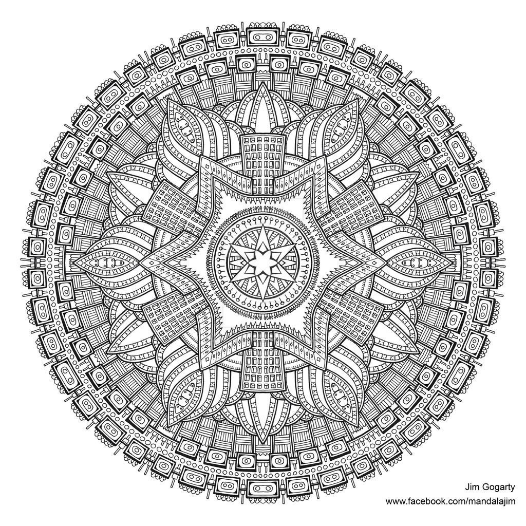 advanced mandala coloring pages printable - photo#25