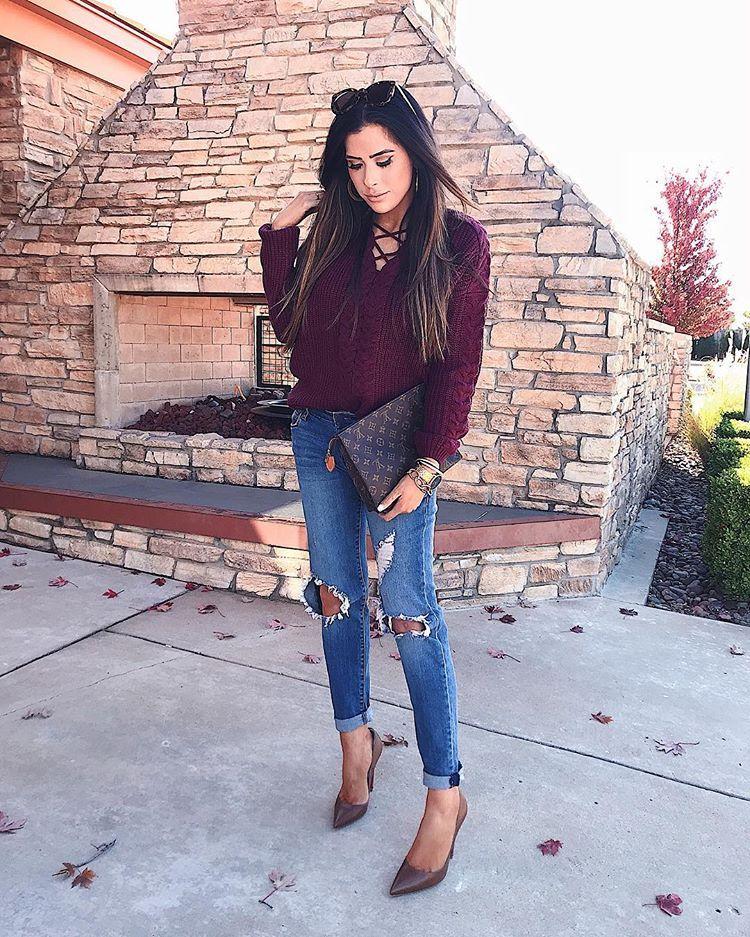 28f39ab87125 womens fall fashion outfit idea 2017