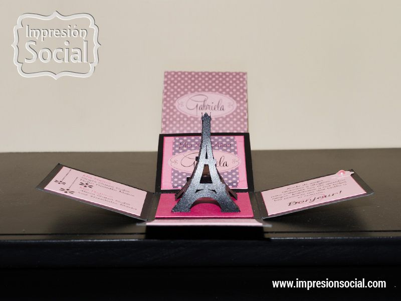 Invitacion Paris Invitaciones 15 Años Invitaciones Y