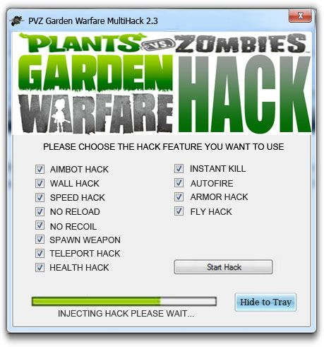 <b>Plants vs Zombies</b> Garden Warfare Hack Trainer | New Hacks | <b>Plants</b> ...