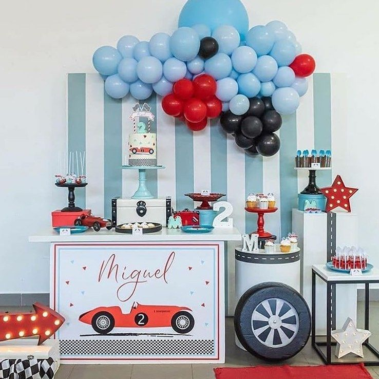 I M In Love With This Design So Are You Bdaydecor Bdaydecoration Bday Race Car Birthday Party Cars Birthday Party Decorations 2nd Birthday Party For Boys
