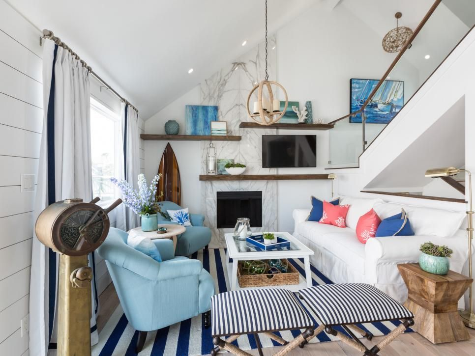 Jonas Brothers Texas Home Stunning Rustic Living Room: Coastal Chic Living Room Transformations From Drew And