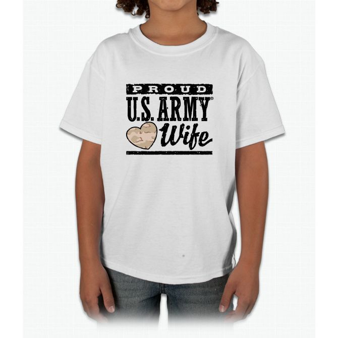 Proud U.s. Army Wife Young T-Shirt