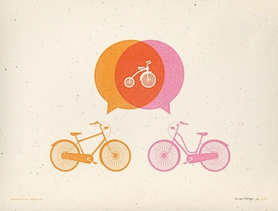 @Simply Bike Bicycle baby birth announcement! by lucille