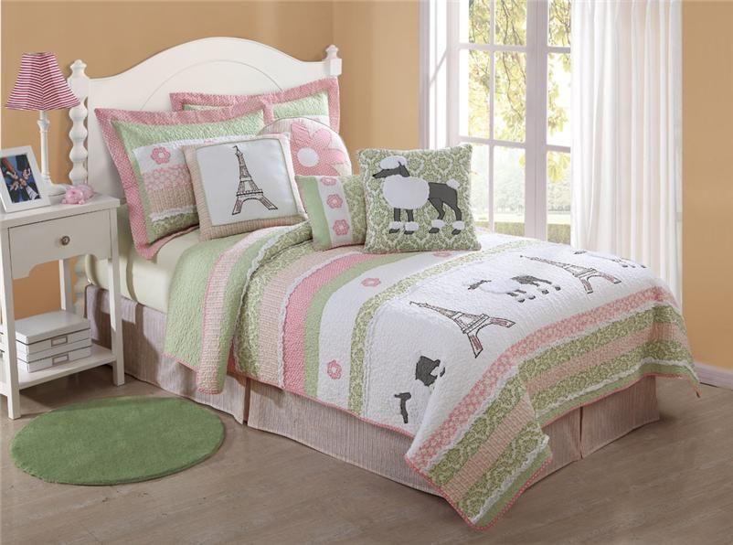 eiffle tower bedding | Details about TEEN GIRL PARIS POODLE EIFFEL ...