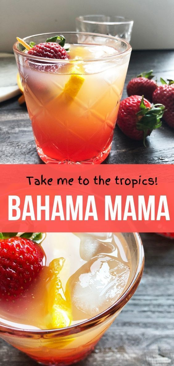 Bahama Mama You'll want to sip this cocktail all Summer long! A Bahama is a fruity/tropical drink with Peach vodka, Coconut Rum, Pineapple Juice, and Orange Juice.