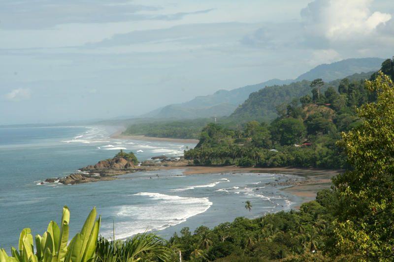 Looking north towards Manuel Antonio and over Playa Dominical