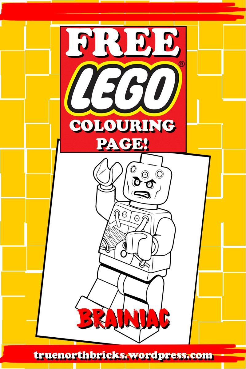 LEGO Colouring Page – Brainiac