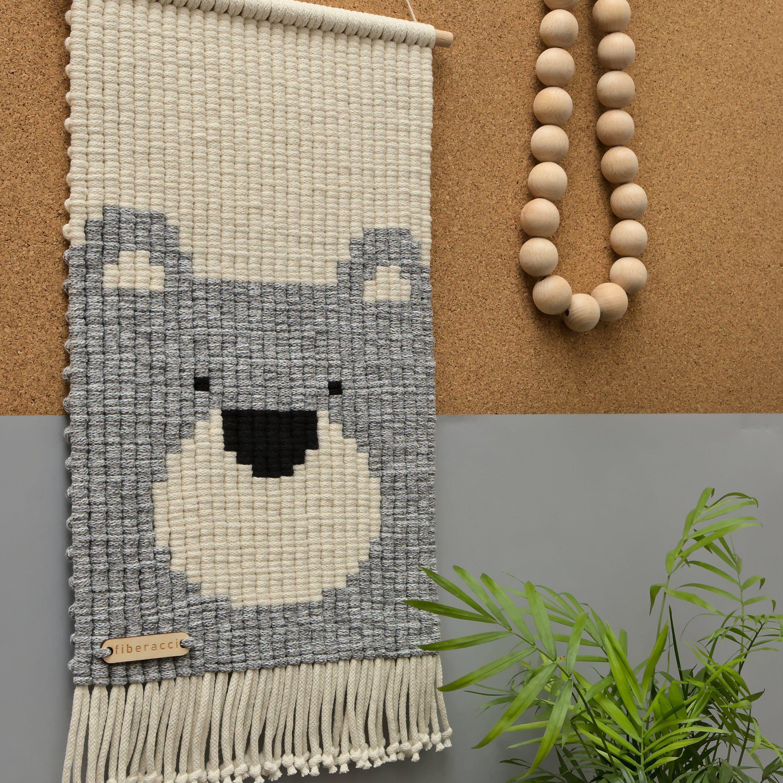 Bernard the grizzly bear wall hanging kids room decor