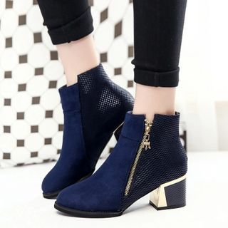 Buy Amy Shoes Block Heel Pointy Ankle Boots at YesStyle.com! Quality products at remarkable prices. FREE WORLDWIDE SHIPPING on orders over US$35.