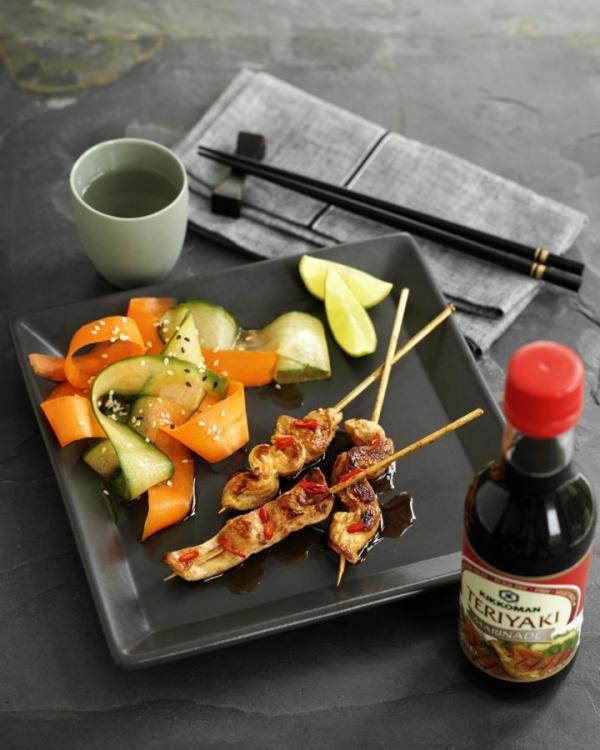 chicken sticks with teriyaki glaze  kikkoman recipes