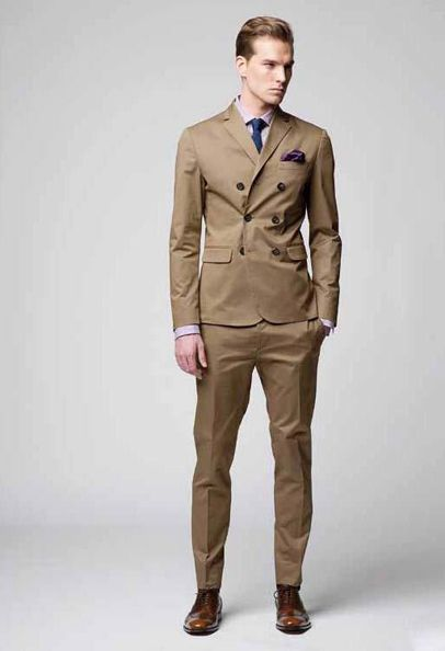 Khaki double breasted suit. Fitted and cotton? | looks to recreate ...
