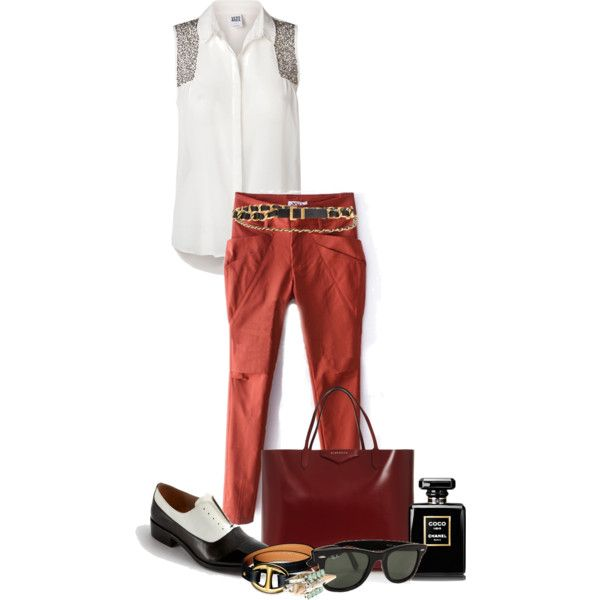 A fashion look from September 2013 featuring Vero Moda tops, Pour La Victoire oxfords and Givenchy tote bags. Browse and shop related looks.