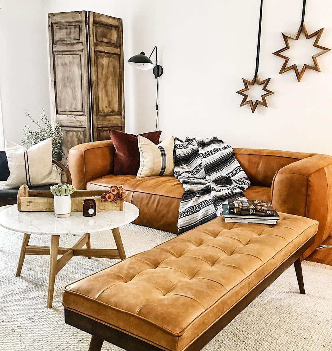 Luca Leather Bench In 2020 Leather Couches Living Room Living Room Bench Tan Leather Couch Living Room