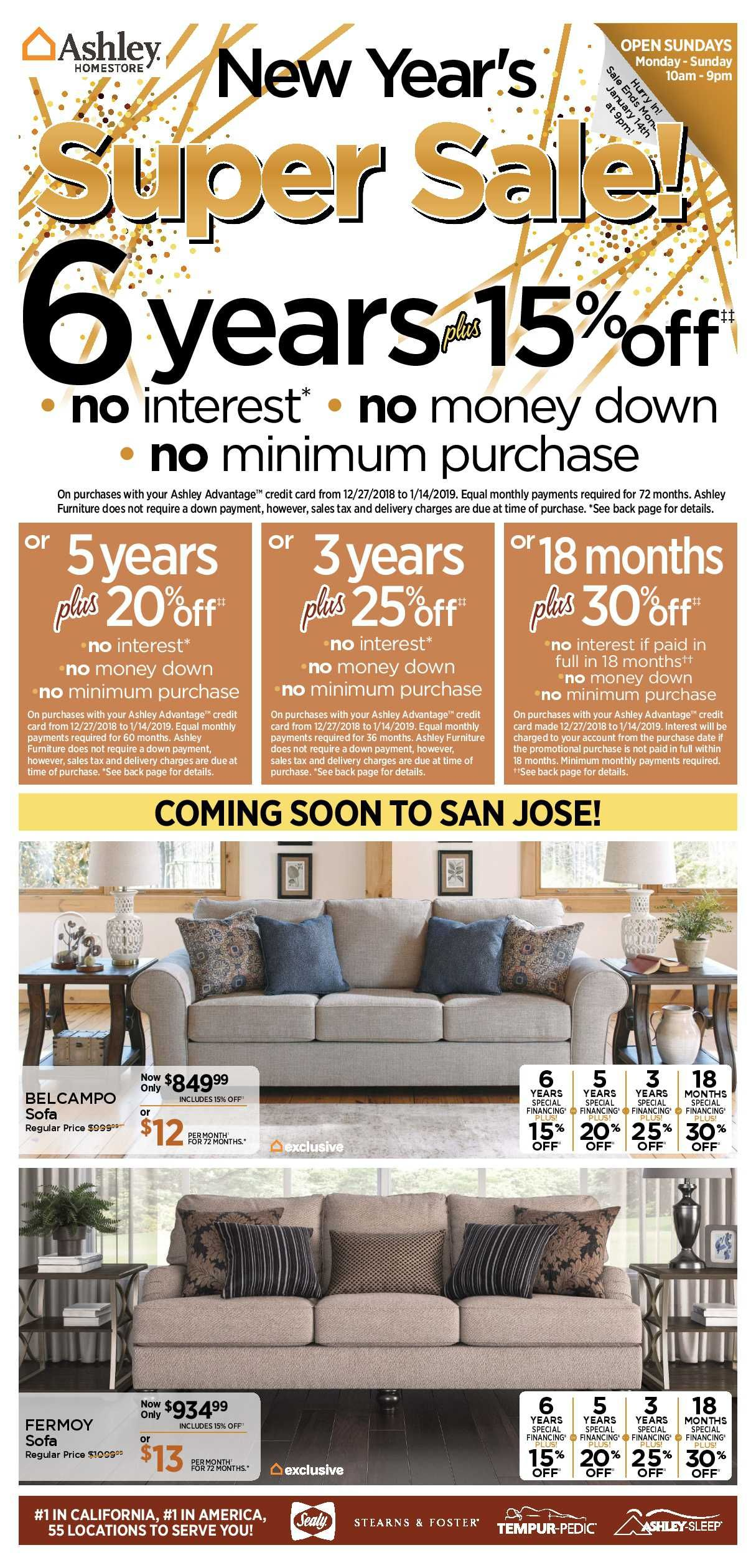 Ashley Furniture Weekly Deals Flyer January 15 21 2019 Ashley
