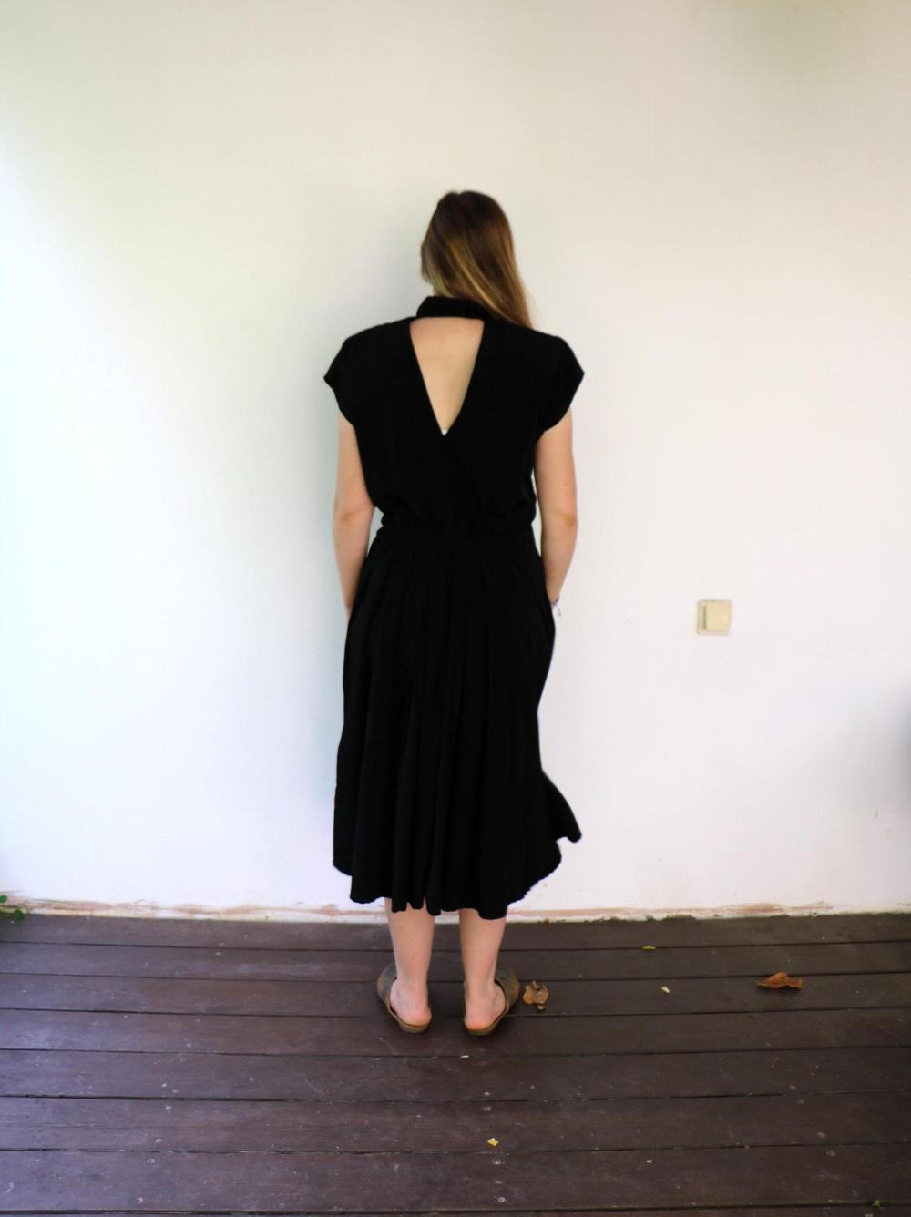 Vintage 80s 90s Black Dress Boho Hippie Cutout Back High Etsy Black Boho Dress Vintage Black Dress Boho Dress [ 1336 x 1000 Pixel ]