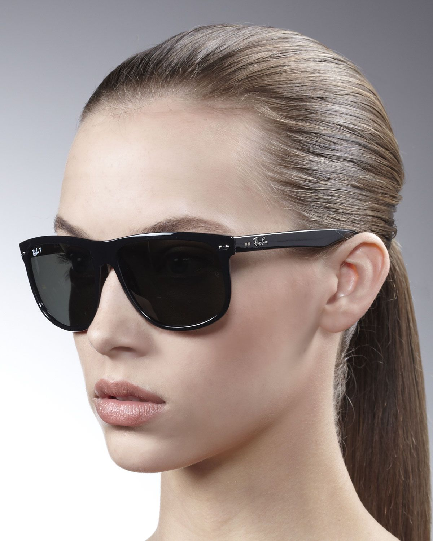 5c48521135 Ray-ban Oversize Polarized Wayfarer Sunglasses in Silver (black polarized)