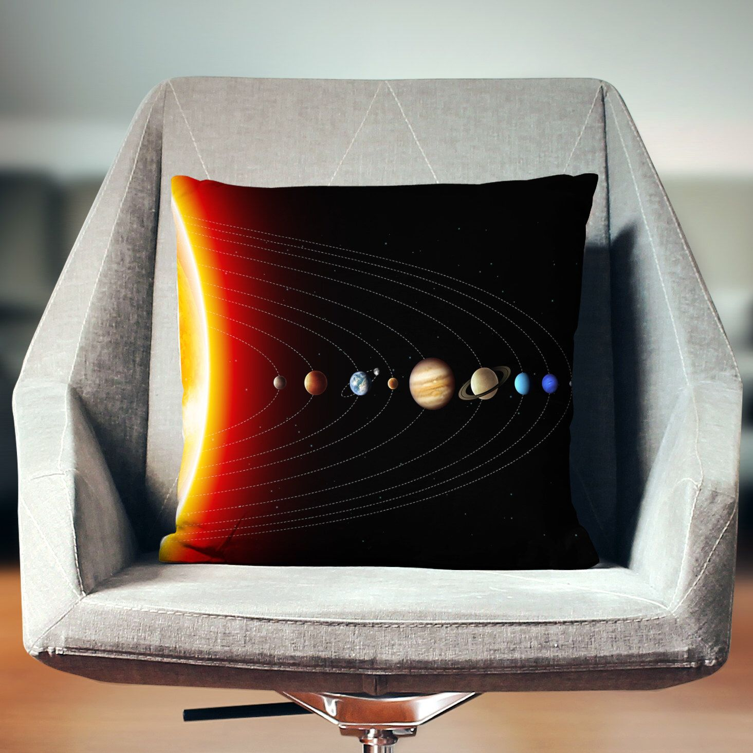 Space Pillow Pillow Solar System Decor Space